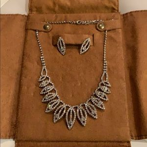 Costume jewelry.  Necklace and earring set